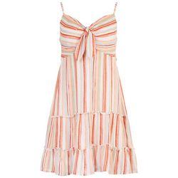 As U Wish Juniors Striped Tiered Summer Dress