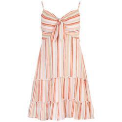 Juniors Striped Tiered Summer Dress