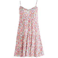 As U Wish Juniors Ruffled Trim Short Dress