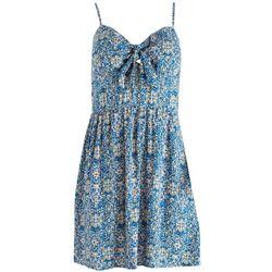 As U Wish Juniors Blue & Floral Sleveless Dress