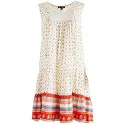 As U Wish Juniors Lace Chest Detail Short Dress