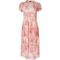 As U Wish Juniors Tie-Dye High Neckline Midi Dress