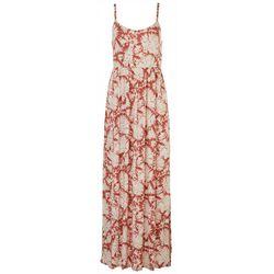 As U Wish Juniors Tie-Dye Spaghetti Strap Maxi Dress