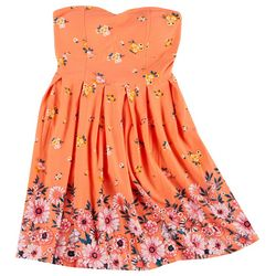 Derek Heart Juniors Yummy Flowery Strapless Dress
