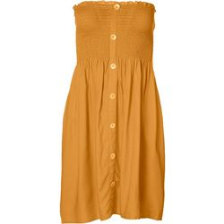 Juniors Sleeveless Smocked Sundress