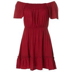 Derek Heart Juniors Dotted Flutter Dress