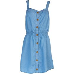Love Tree Womens Denim Button Dress