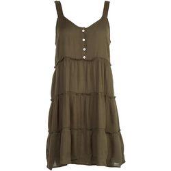 Derek Heart Juniors Solid Layered Look Sleevless Dress