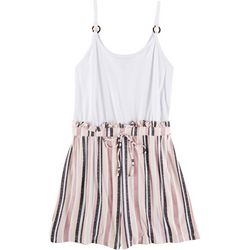 Derek Heart Juniors Sleeveless Ring Stripes Romper