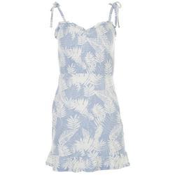 Planet Gold Juniors Tropical Sleevless Mini Dress