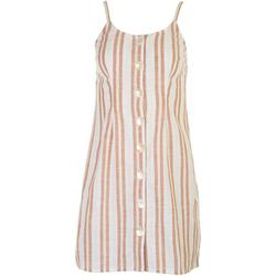 Juniors Sleeveless Striped Dress