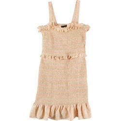 Juniors Smocked Ruffle Dress