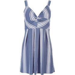 Planet Gold Juniors Striped Sleevless Mini Dress