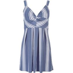 Juniors Striped Sleevless Mini Dress
