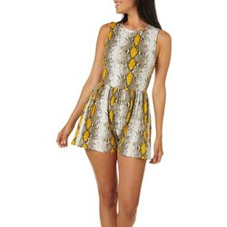 H.I.P. Juniors Snake Print Sleeveless Romper