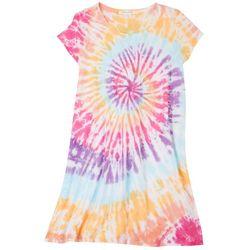 Caution to the Wind Juniors Tie-Dye T-shirt Dress