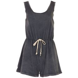 Caution to the Wind Juniors Grey Washed Basic Romper