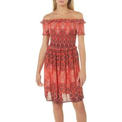 Jolt Juniors Boho Off The Shoulder Sundress