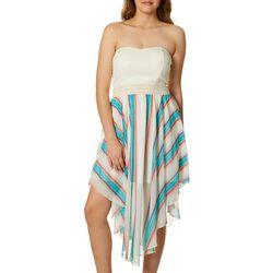 Guilt Trip Juniors Stripe Handkerchief Hem Sundress