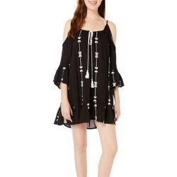 Exist Juniors Embroidered Arrow Cold Shoulder Sundress