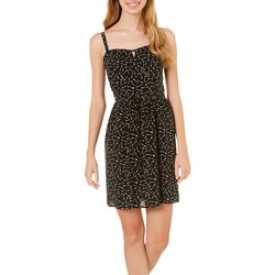 As U Wish Juniors Arrow Print Blouson Sundress