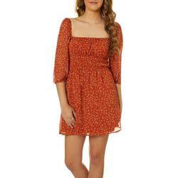 Trixxi Juniors Floral Print Off The Shoulder Dress