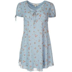 No Comment Juniors Roses Empire Waist Dress