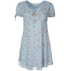 Juniors Roses Empire Waist Dress