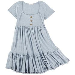 Juniors Solid Tiered Dress