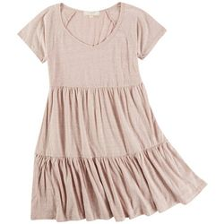 No Comment Juniors Solid Teared Dress
