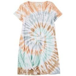 No Comment Womens Shoulder Tye Dye Dress