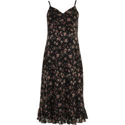 No Comment Juniors Roses Mesh Tiered Midi Dress