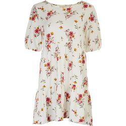 Ultra Flirt Juniors Flowery Garden Baby Doll Dress