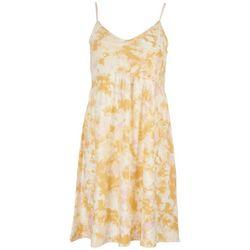 No Comment Juniors Tie-Dye Spaghetti Strap Babydoll  Dress