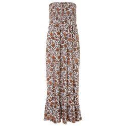 Juniors Floral Smocked Maxi Dress
