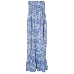 Ultra Flirt Juniors Tie Dye Smocked Maxi Dress