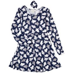 No Comment Juniors All-over Ghost 2-pc. Dress