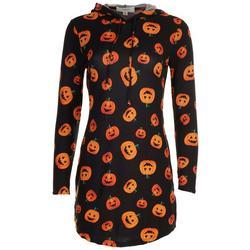 Juniors Laughing Pumpkin Long Sleeve Dress