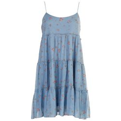 No Comment Juniors Floral Tiered Dress