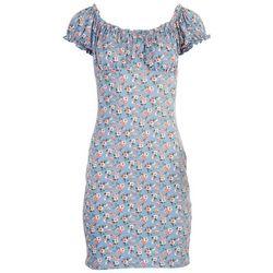 Ultra Flirt Juniors Scrunched Off The Shoulder Dress