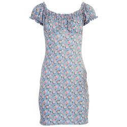 Juniors Scrunched Off The Shoulder Dress