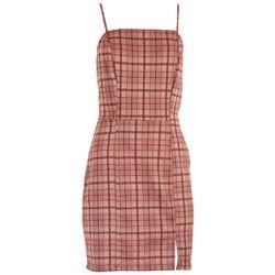 No Comment Juniors Tartan Sleeveless Dress