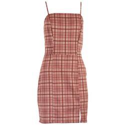 Juniors Tartan Sleeveless Dress
