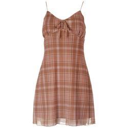 Juniors Plaid sleeveless Dress