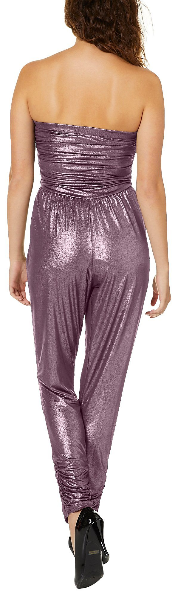 dc7c2151c97 No Comment Juniors Metallic Strapless Jumpsuit