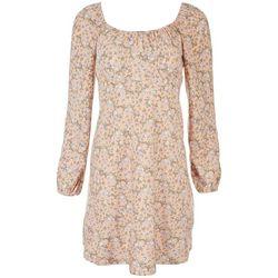 No Comment Juniors Floral Off The Shoulder Dress