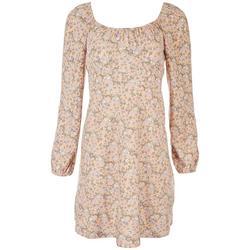 Juniors Floral Off The Shoulder Dress
