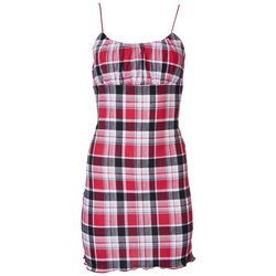 Ikeddi Juniors Checkers Cotton Dress