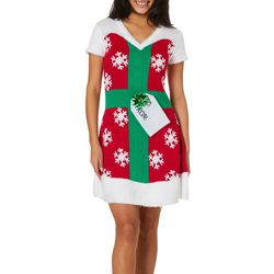 Derek Heart Juniors Holiday Present Sweater Dress