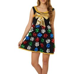 Derek Heart Juniors Gift Bows Sweater Dress